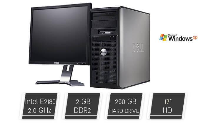 2 מחשב נייח DELL כולל מסך מתנה