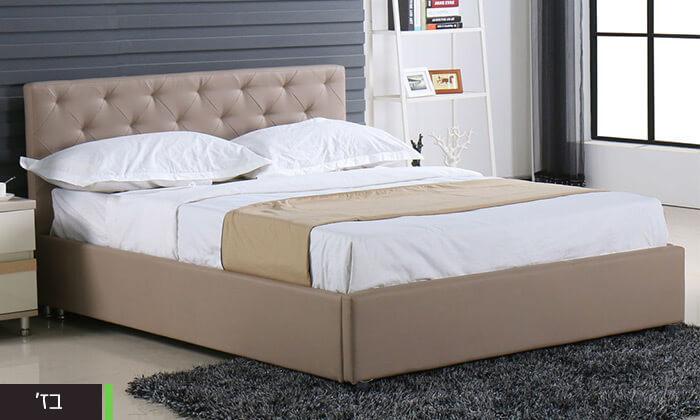 4 מיטה זוגית עם ארגז מצעים Bradex