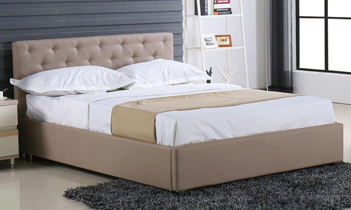 7 מיטה זוגית עם ארגז מצעים Bradex