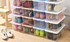 6 קופסאות אחסון נעליים