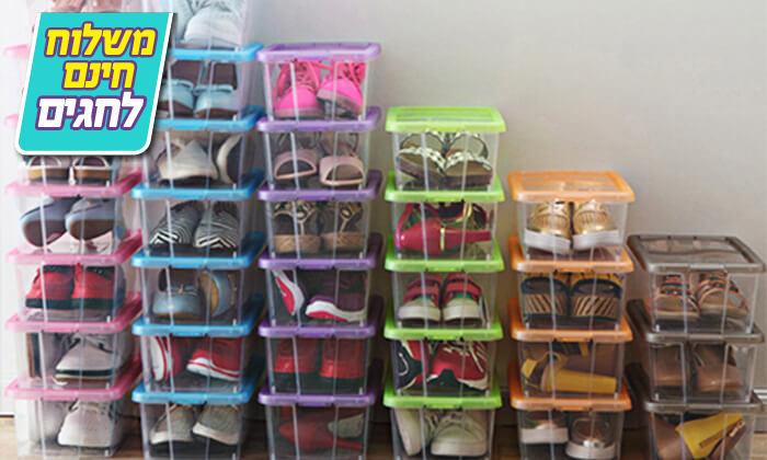 3 8 קופסאות לאחסון נעליים - משלוח חינם