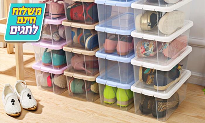 2 8 קופסאות לאחסון נעליים - משלוח חינם
