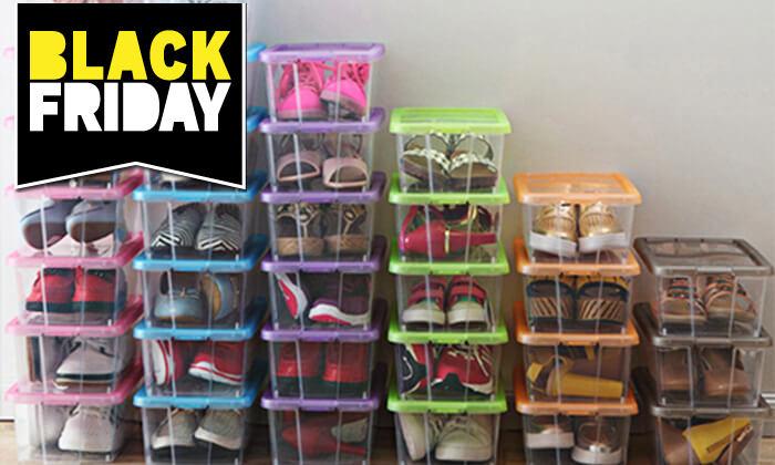 3 6 קופסאות לאחסון נעליים