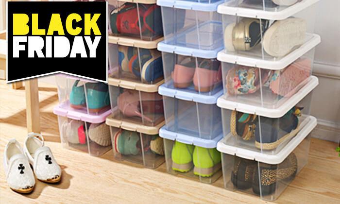 2 6 קופסאות לאחסון נעליים