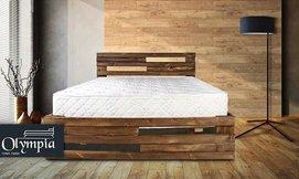 מיטה מעץ מלא עם מזרן