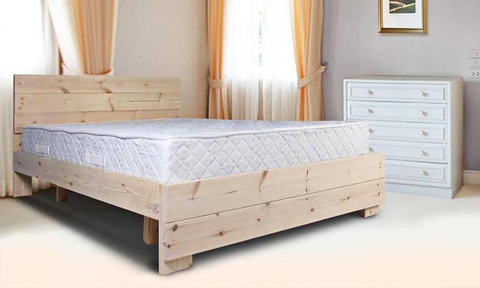 3 מיטת עץ מלא