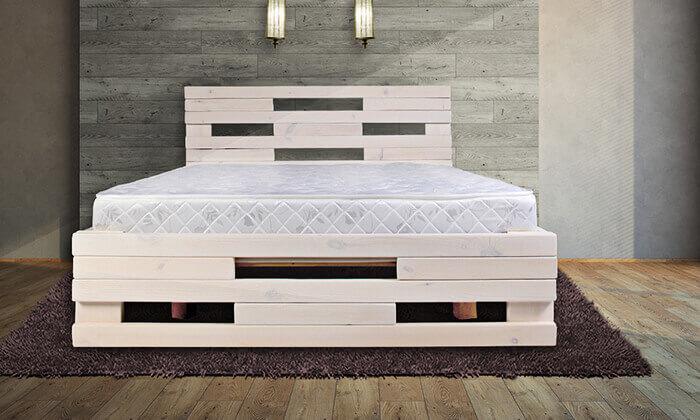 2 מיטת עץ מלא