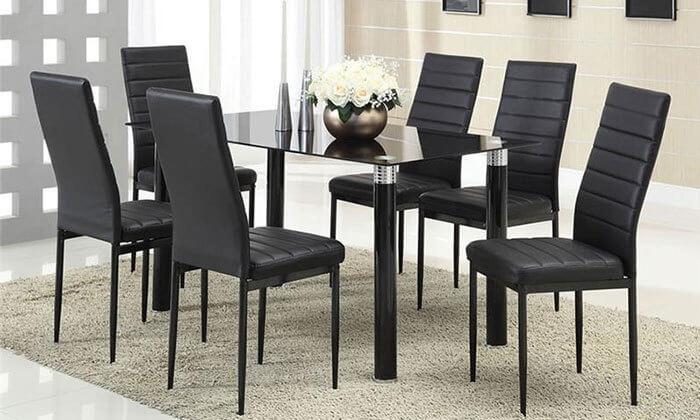 3 פינת אוכל עם 6 כיסאות תואמים