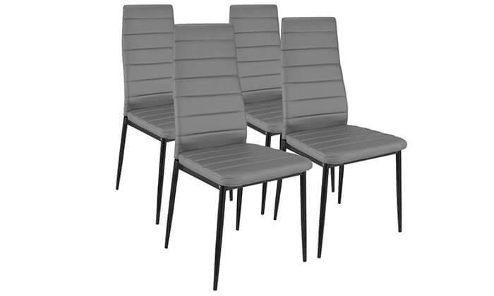 6 פינת אוכל עם 6 כיסאות תואמים