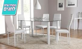 פינת אוכל עם 6 כיסאות תואמים