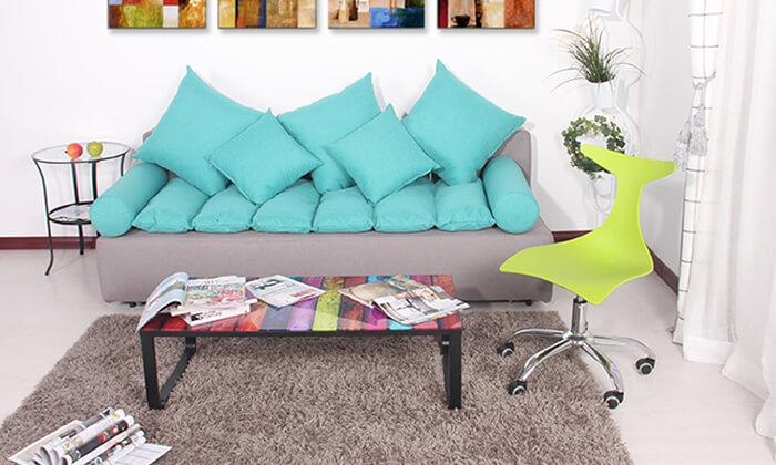3 שולחן סלון צבעוני מזכוכית