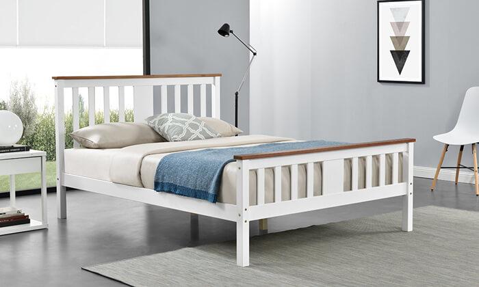 3 מיטה זוגית מעץ