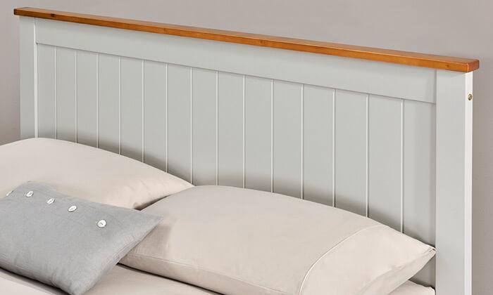 3 מיטה זוגית מעץ אורן מלא