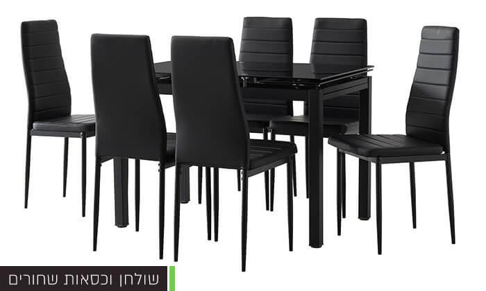 5 פינת אוכל עם 6 כיסאות