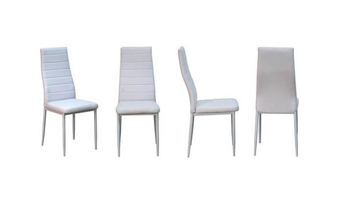 7 פינת אוכל עם 6 כיסאות