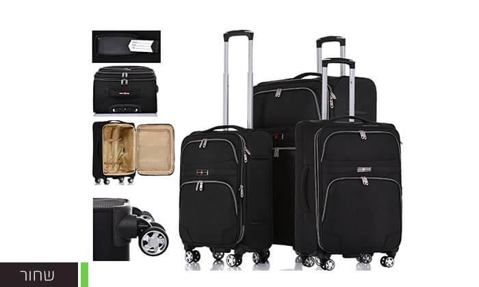 3 סט מזוודות בד ניילון SWISS