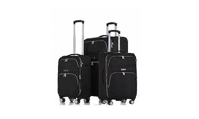 4 סט מזוודות בד ניילון SWISS