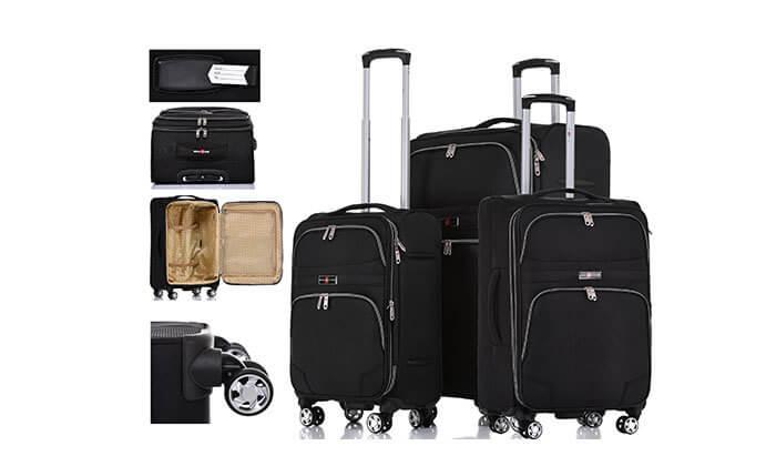8 סט מזוודות בד ניילון SWISS