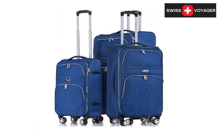 2 סט מזוודות בד ניילון SWISS