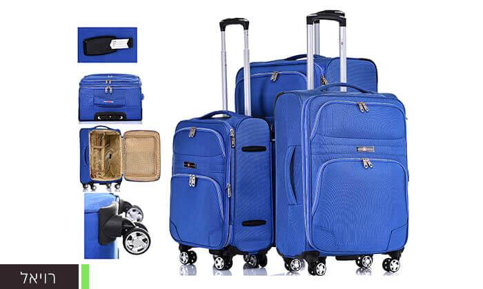 7 סט מזוודות בד ניילון SWISS