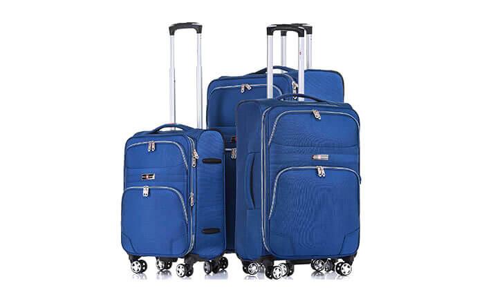 9 סט מזוודות בד ניילון SWISS