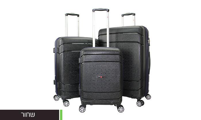 3 סט מזוודות SWISSקשיחות