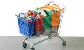 4 תיקי קניות כולל צידנית