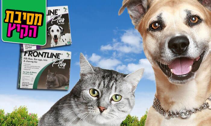 4 אמפולות פרונטליין פלוס לחתולים או לכלבים - משלוח חינם!