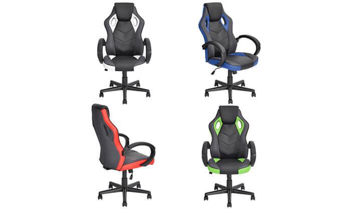 8 כיסא גיימרים Homax כולל גלגלי סיליקון