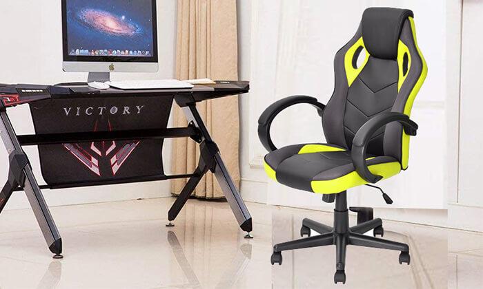 9 כיסא גיימרים Homax כולל גלגלי סיליקון