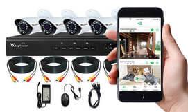 מערכת אבטחה DVR עם מצלמות