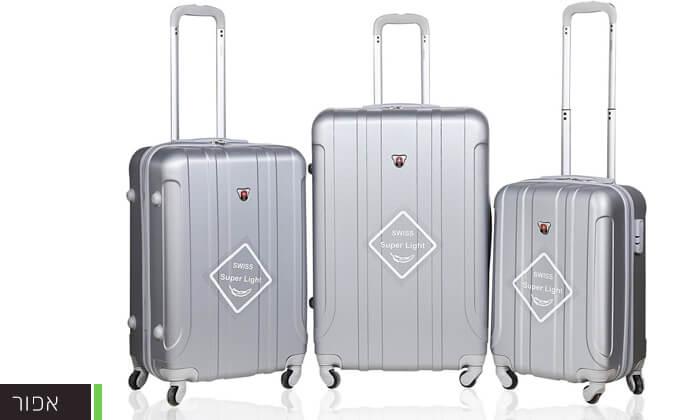 4 מזוודות SWISS קשיחות