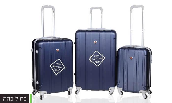 6 מזוודות SWISS קשיחות