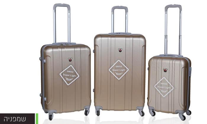 7 מזוודות SWISS קשיחות