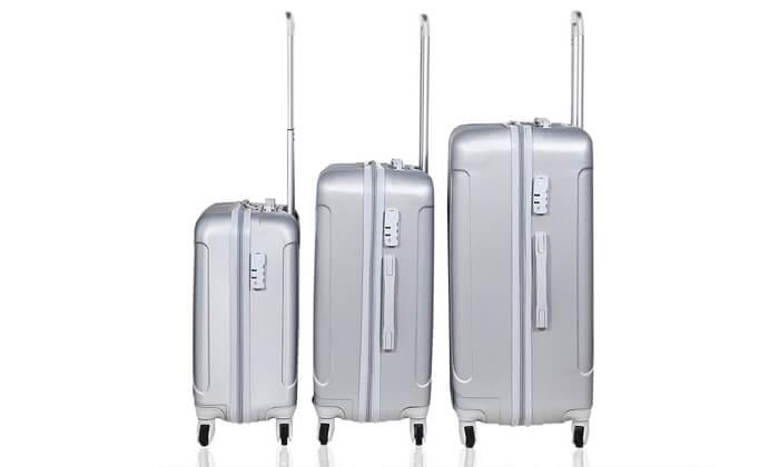 10 מזוודות SWISS קשיחות