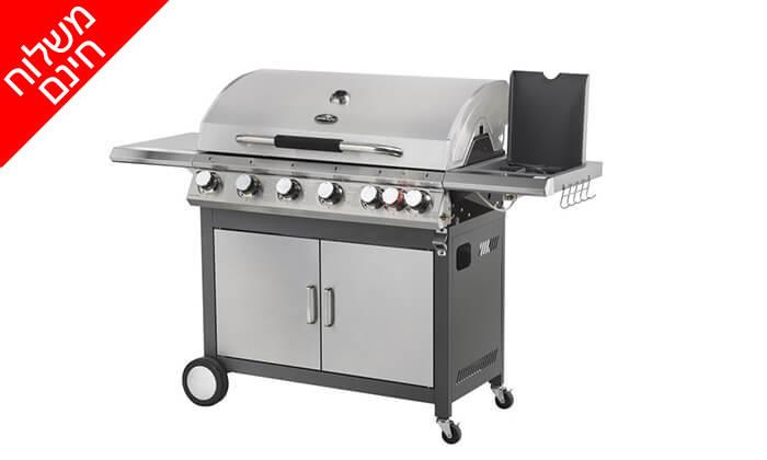 4 גריל גז 6 מבערים Australia Chef כולל גריל מורכב ומשלוח חינם
