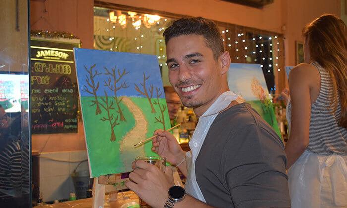 5 כרטיס לאירוע פיינט פאב - ערב ציור בברים באבן גבירול ורוטשילד