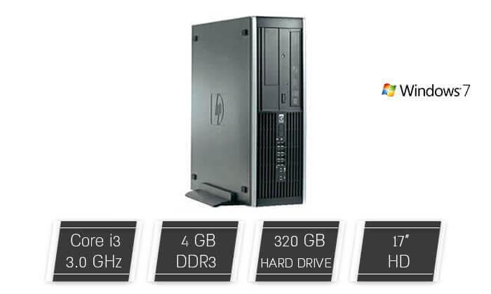 2 מחשב נייח HP כולל מקלדת ועכבר מתנה
