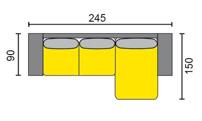6 שמרת הזורע: סלון רטרו הנפתח למיטה זוגית