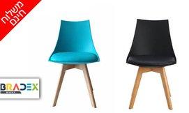 כסא פינת אוכל עם מושב מרופד