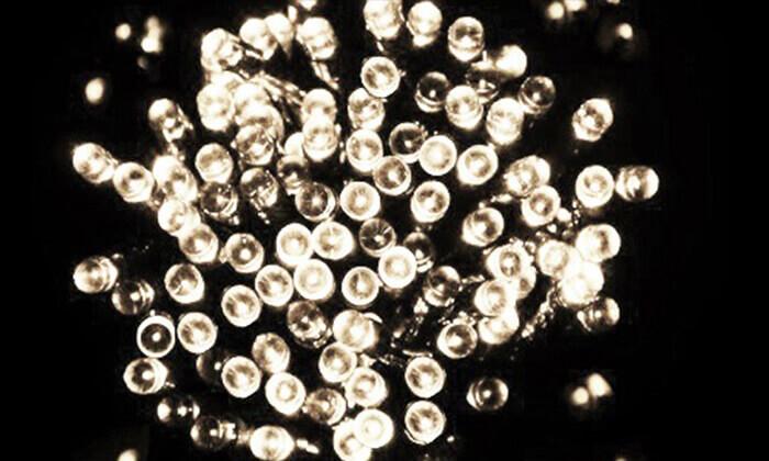 10 שרשרת נורות LED סולאריות
