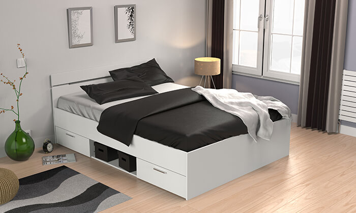 4  מיטה זוגית עם מגירות HOME DECOR