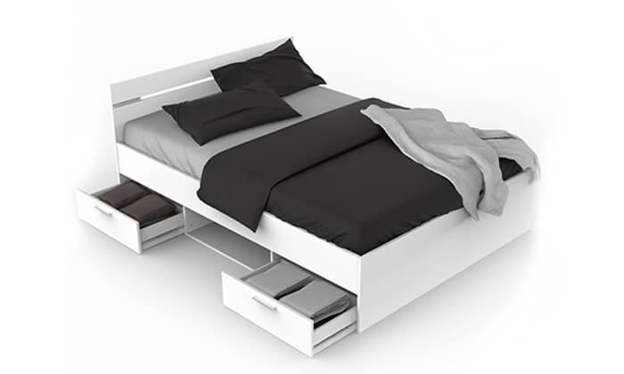 3  מיטה זוגית עם מגירות HOME DECOR