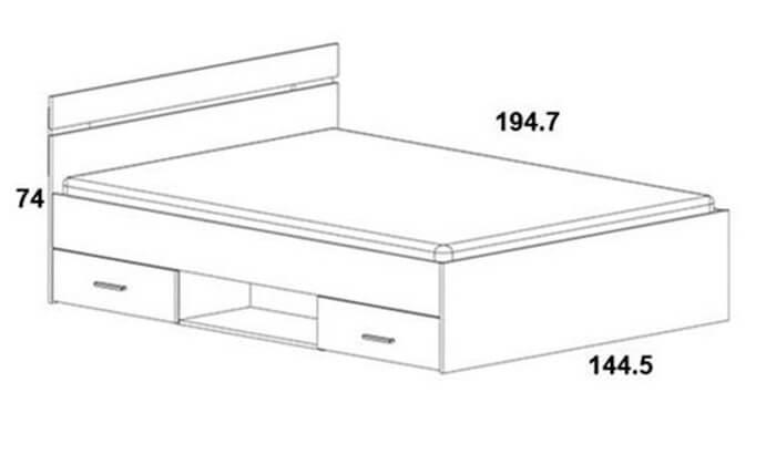 5  מיטה זוגית עם מגירות HOME DECOR
