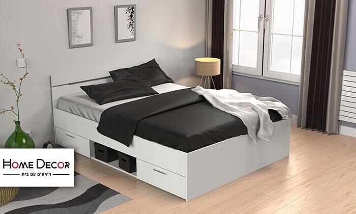 2  מיטה זוגית עם מגירות HOME DECOR