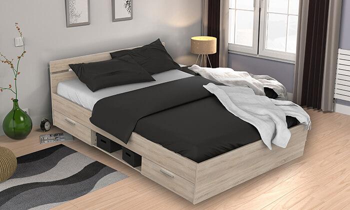 4 מיטה זוגית עם מגירות מבית HOME DECOR