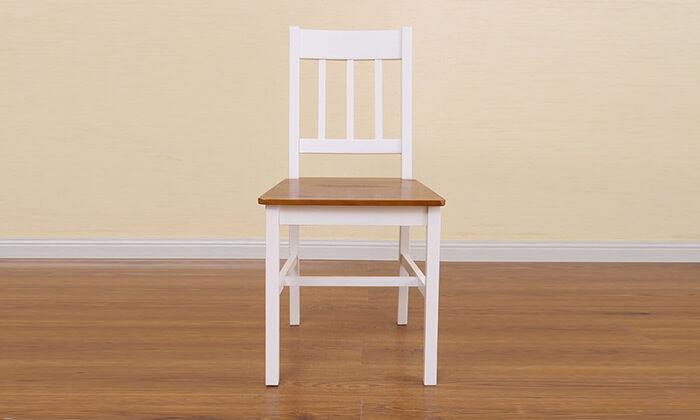 5 פינת אוכל עם 4 כסאות עץ NERON