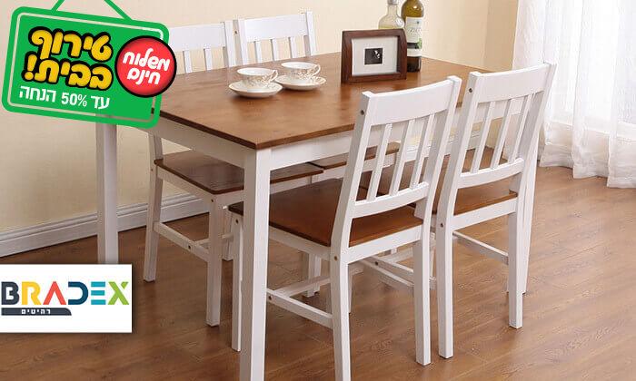 2 פינת אוכל עם 4 כסאות עץ NERON - משלוח חינם!