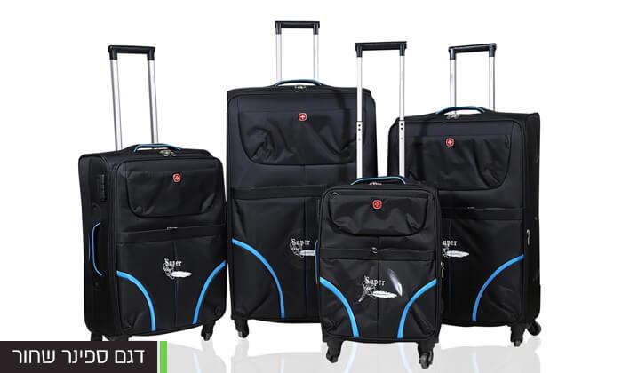 8 מזוודות SWISS בגדלים שונים