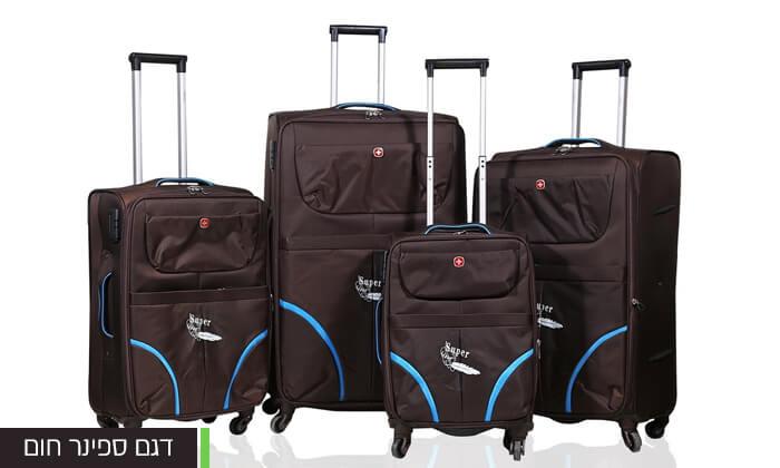 10 מזוודות SWISS בגדלים שונים